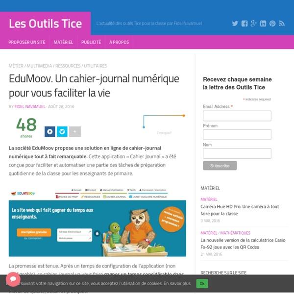 EduMoov. Un cahier-journal numérique pour vous faciliter la vie – Les Outils Tice