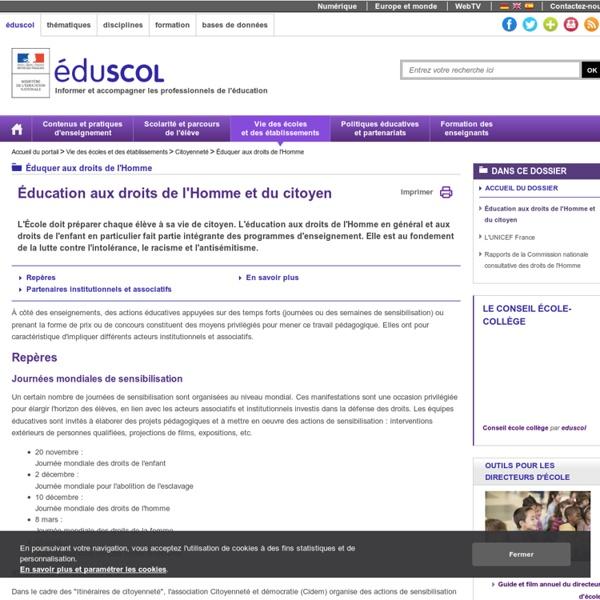 Éduquer aux droits de l'Homme - Éducation aux droits de l'Homme et du citoyen