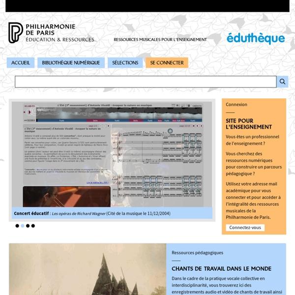 Portail Education nationale - Cité de la musique