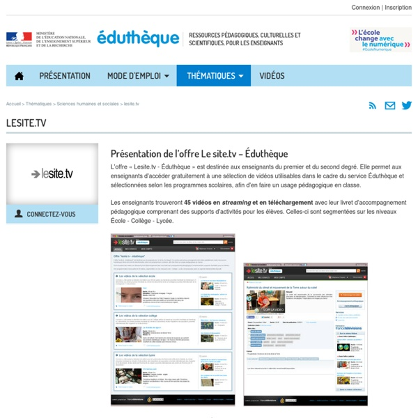 Éduthèque-Partenaire Sciences humaines
