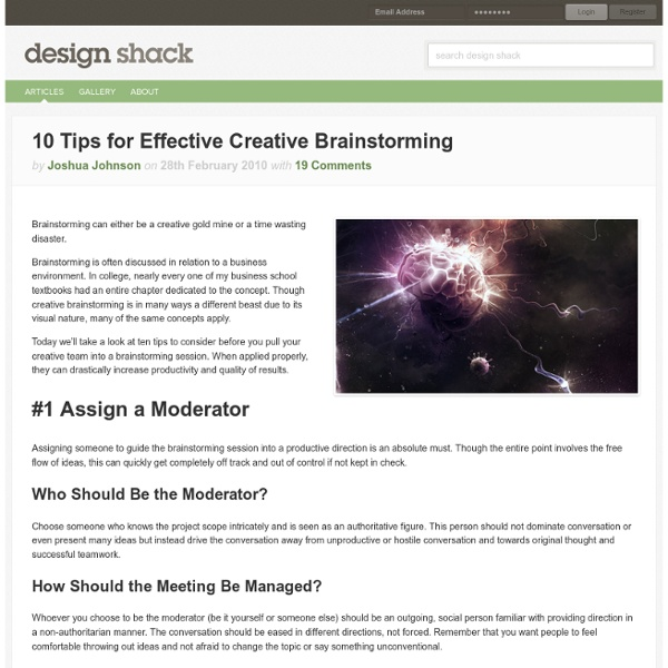 10 Tips for Effective Creative Brainstorming