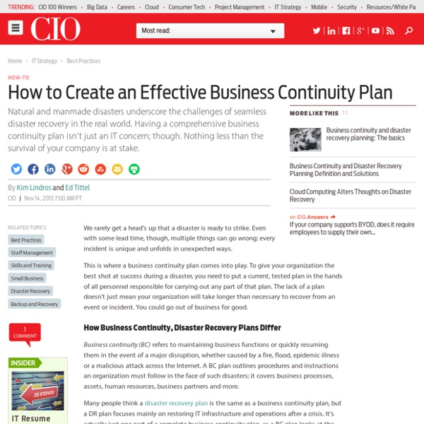 How to Create an Effective Business Continuity Plan