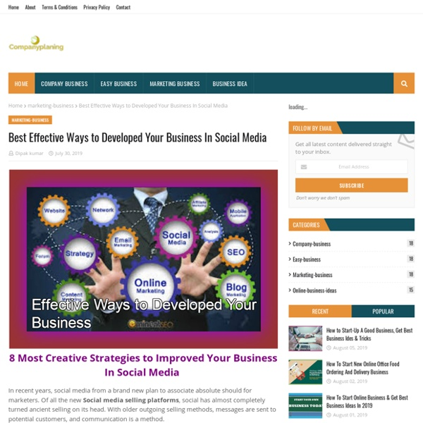 Best Effective Ways to Developed Your Business In Social Media