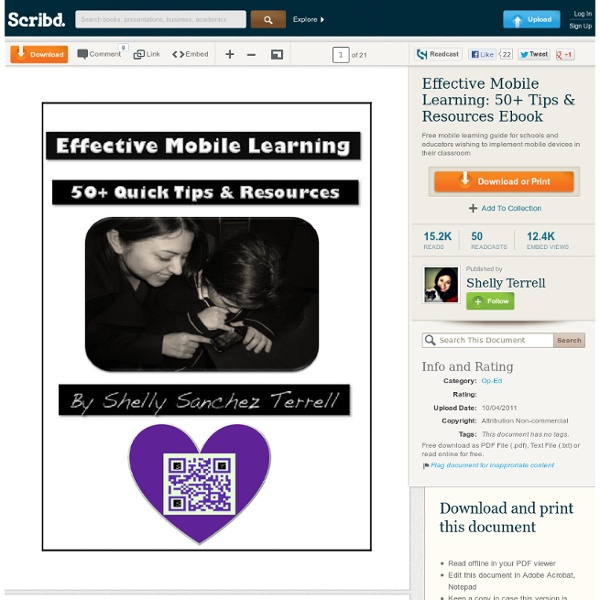 Effective Mobile Learning: 50+ Tips & Resources Ebook
