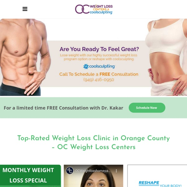 Comprehensive Orange County Weight Loss Programs