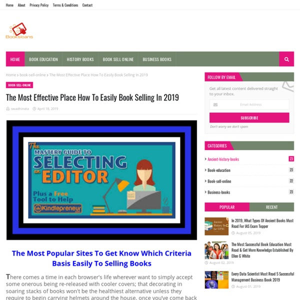 The Most Effective Place How To Easily Book Selling In 2019