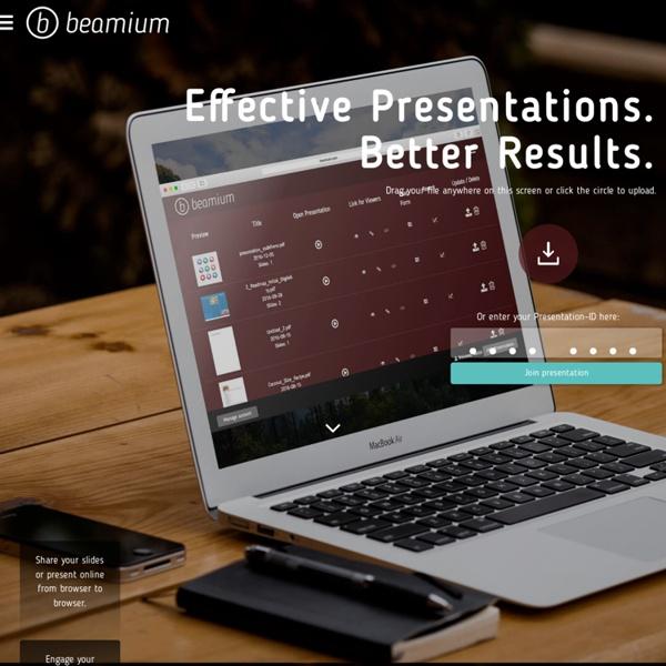 Present PDF presentations online - beamium.com