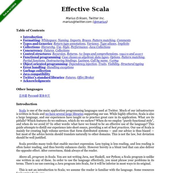 Effective Scala
