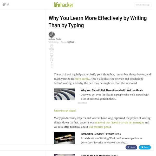 Why You Learn More Effectively by Writing Than Typing