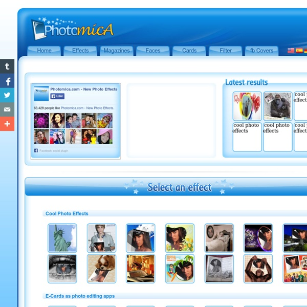 Effets photo cool en ligne - Effets pour les photos gratuites des effets de photoshop