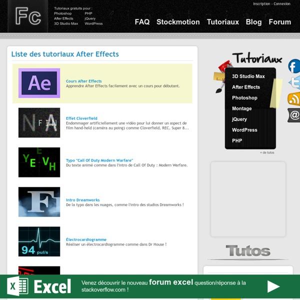 Tuto After Effects - effets spéciaux vidéos