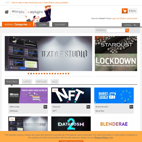 After Effects Scripts + After Effects Plugins