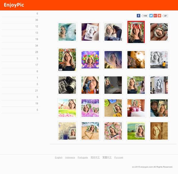 Effets Photo et collages - Fun Photo en ligne - Photos sympas sur enjoypic.com