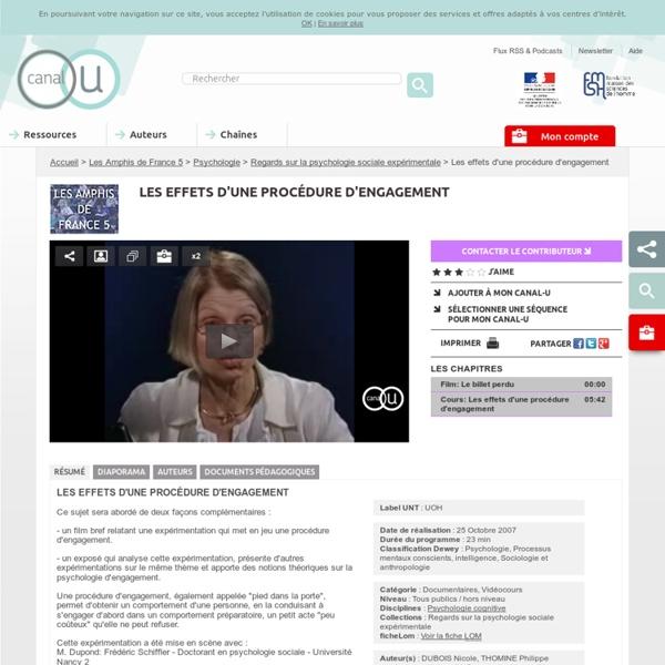 Les effets d'une procédure d'engagement - Les Amphis de France 5