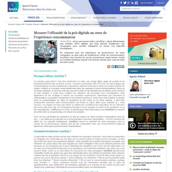 Mesurer l'efficacité de la pub digitale au cœur de l'expérience consommateur - Ipsos ASI