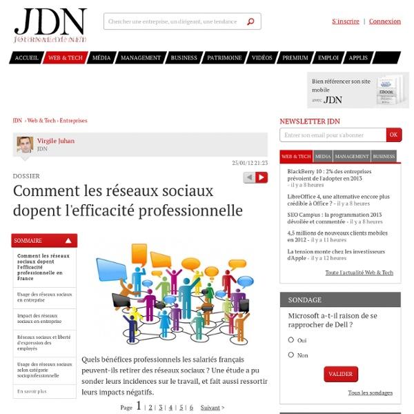 Comment les réseaux sociaux dopent l'efficacité professionnelle - Journal du Net Solutions
