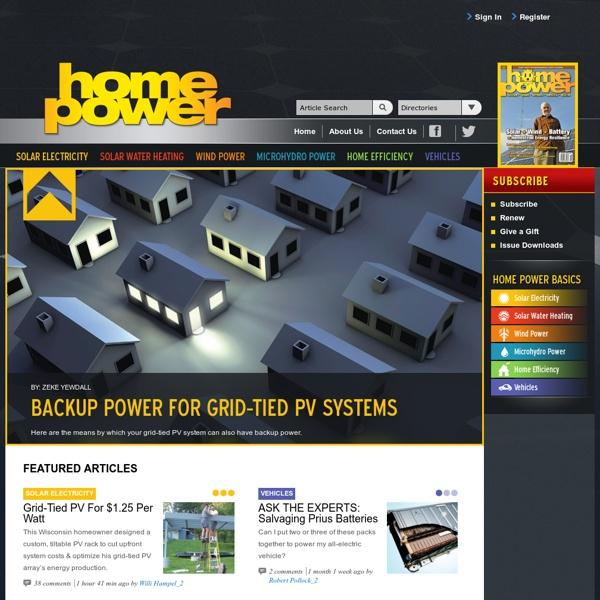 Home Power Magazine: Solar