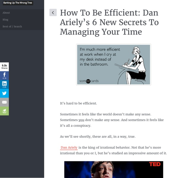 How to Be Efficient: Dan Ariely's 6 New Secrets to Managing Your Time