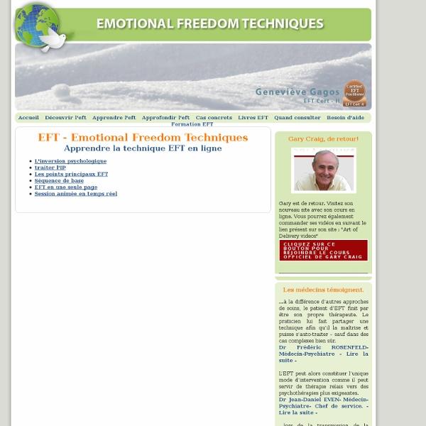 EFT - Apprendre la technique en ligne