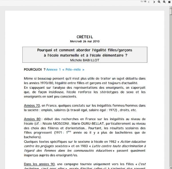 Www.ac-creteil.fr/enseignements/mercredisdecreteil/quelle-egalite-michele-babillot.pdf