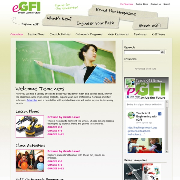 eGFI - For Teachers