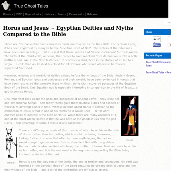 Egyptian Deities and Myths Compared to the Bible