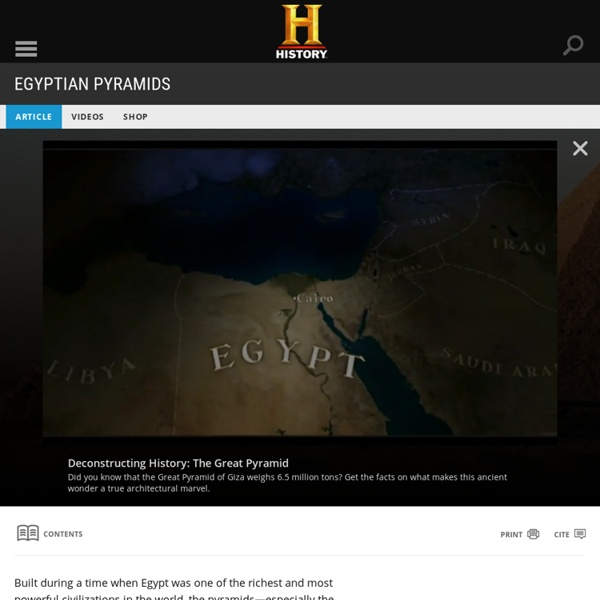 Egyptian Pyramids - Ancient History