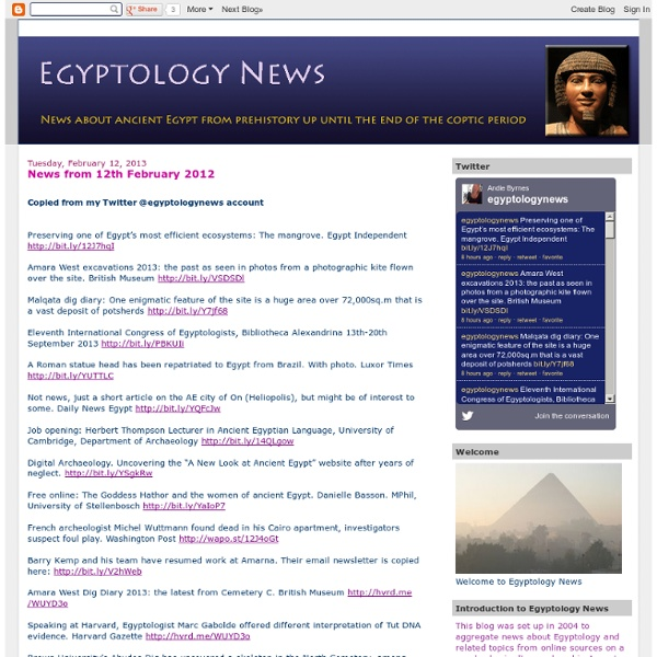 Egyptology News
