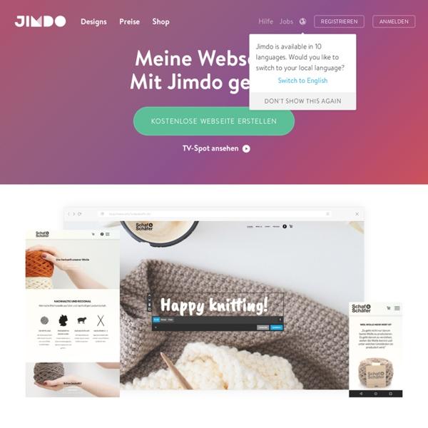 Meine Eigene Website eigene homepage erstellen jimdo pearltrees