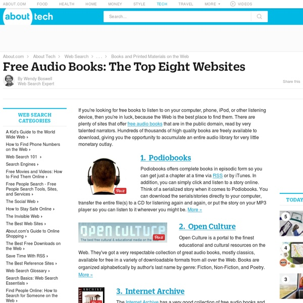 The Top Eight Sites For Free Audio Books on the Web