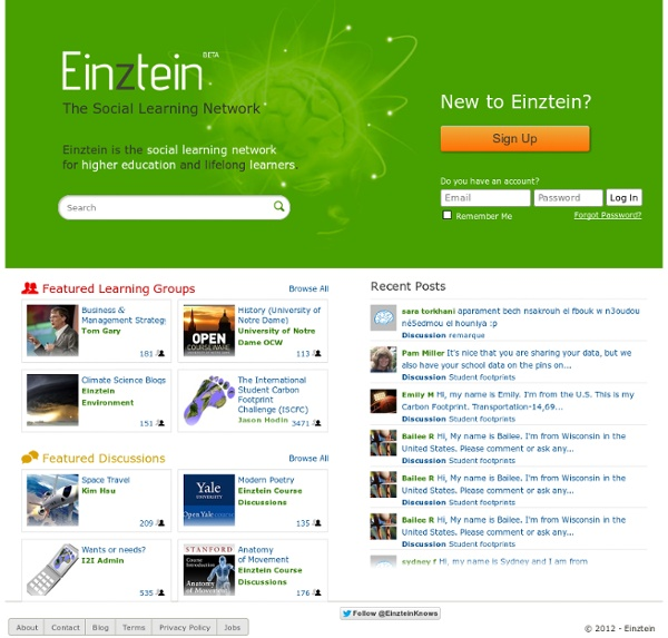 Einztein - The Social Learning Network