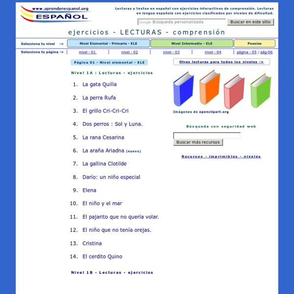 Lecturas con ejercicios de comprensión en español - Ejercicios de lengua castellana