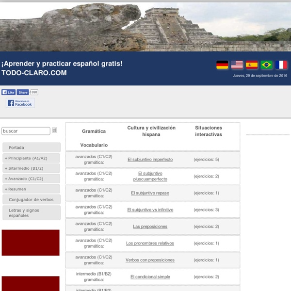 Ejercicios gramática español - TODO-CLARO.COM