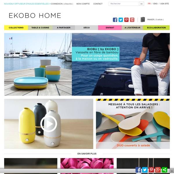 Vaisselle en bambou laqué : Ekobo Ecology & Design
