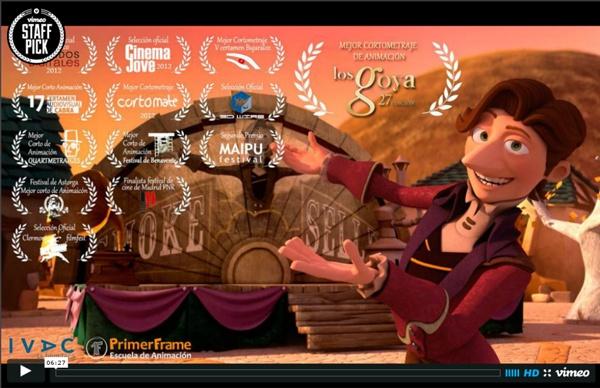 Le vendeur de chimères- court métrage d'animation