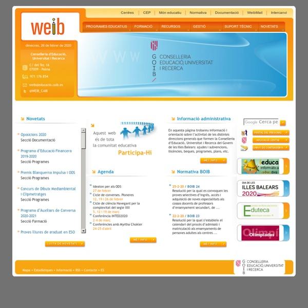 El Web Educatiu de les Illes Balears
