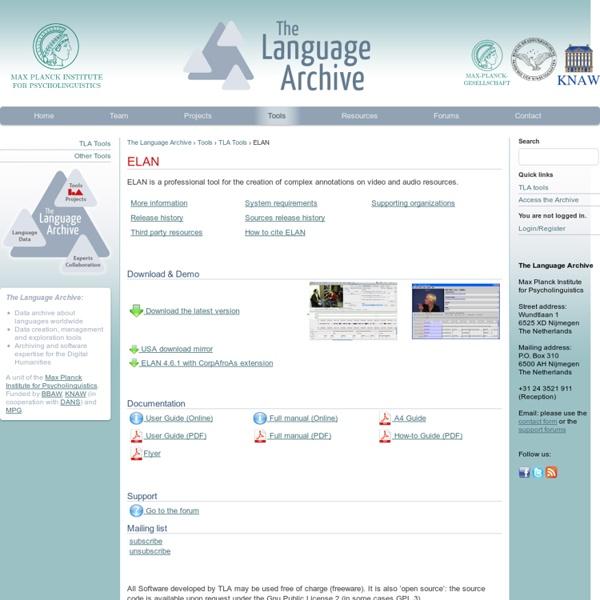 ELAN - The Language Archive