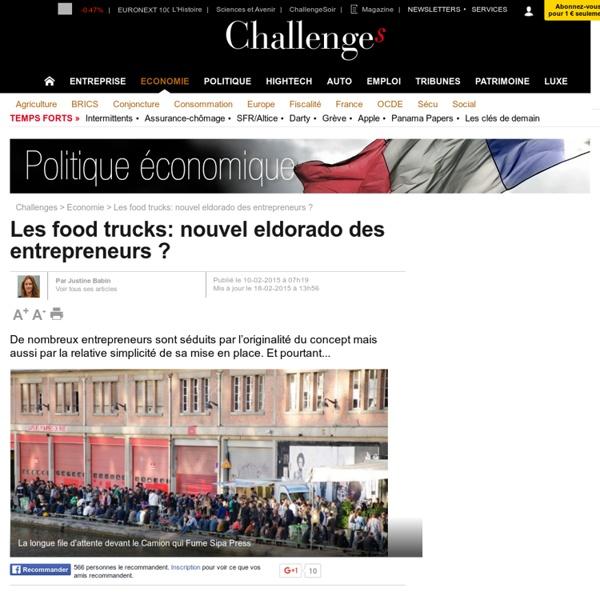 Les food trucks: nouvel eldorado des entrepreneurs ? - 18 février 2015