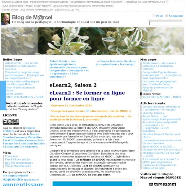 eLearn2 : Se former en ligne pour former en ligne
