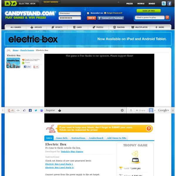 Electric Box - Puzzle Games - Free Online Games