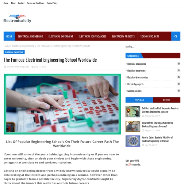The Famous Electrical Engineering School Worldwide