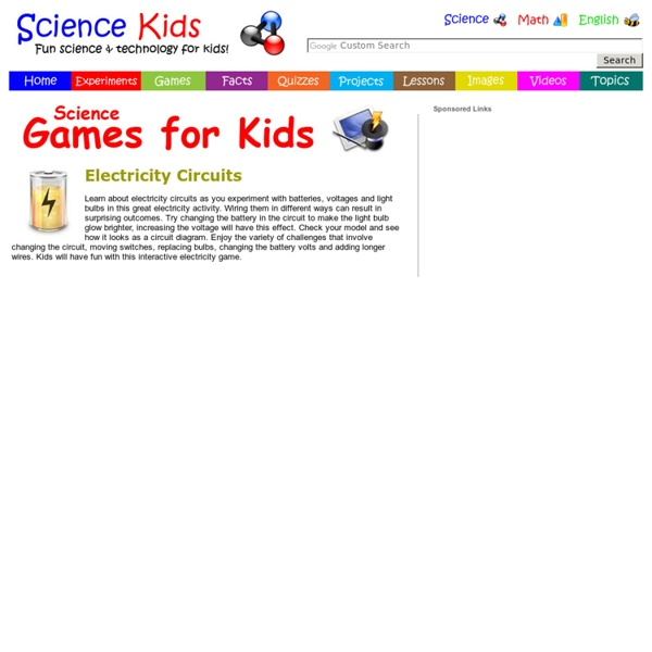 Electricity Games & Activities for Kids - Circuits, Batteries, Bulbs, Wires, Voltage