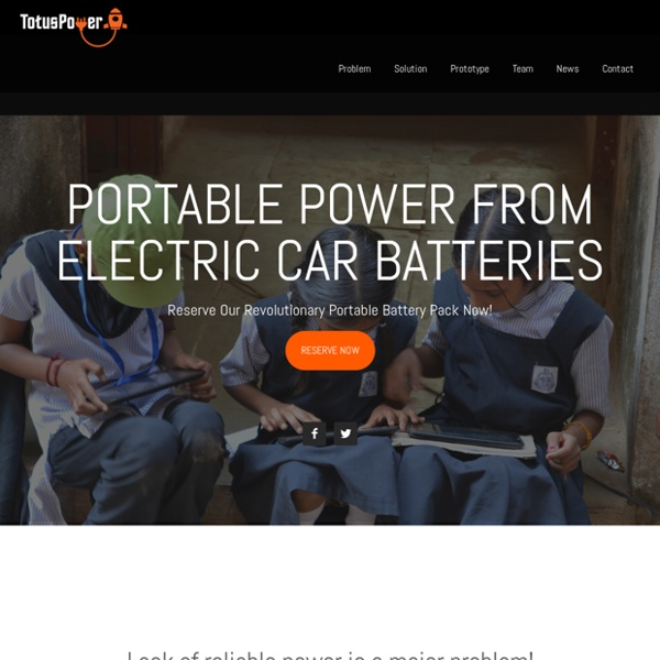 Electricity from electric cars – Cheap portable power