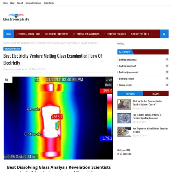 Best Electricity Venture Melting Glass Examination