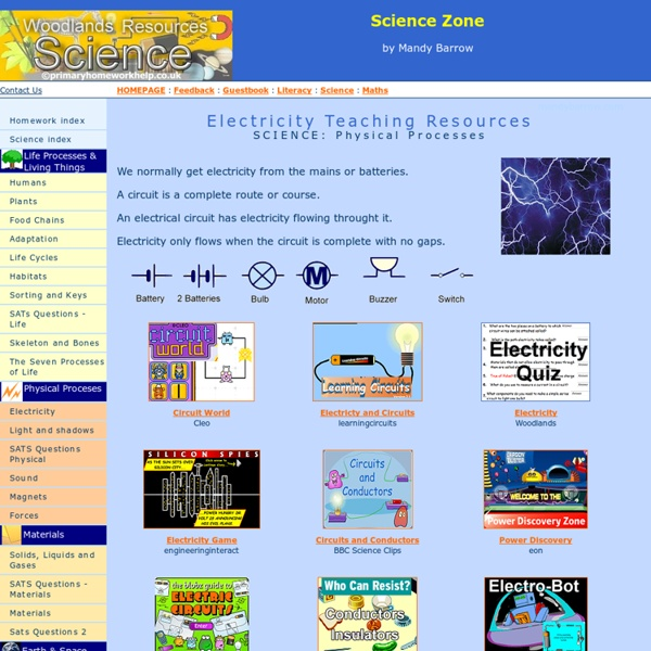 Primary homework help co uk revision science electricity