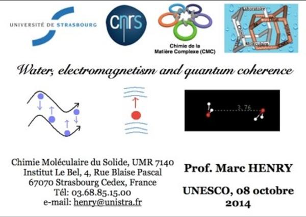 Eau, électromagnétisme et cohérence quantique