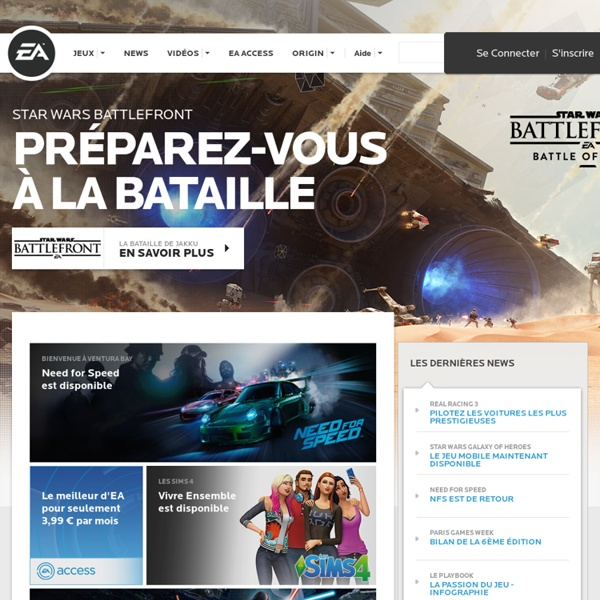 Les jeux EA - Electronic Arts France
