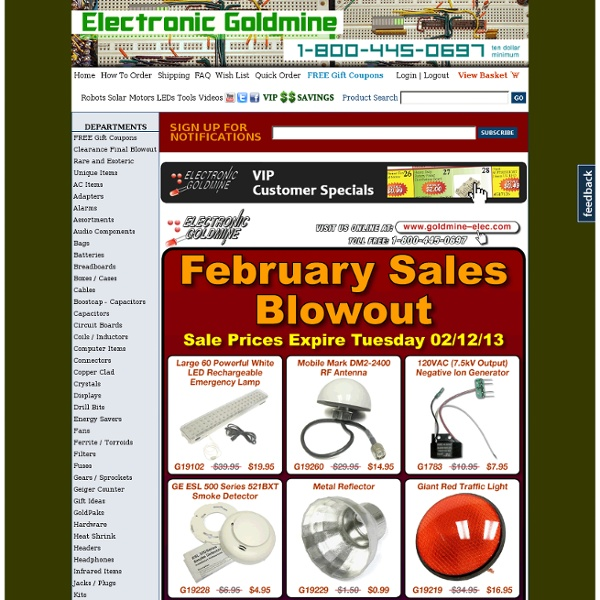Electronic Goldmine - Electronic Components, Parts, Test Equipment, Kits, Goldmine.