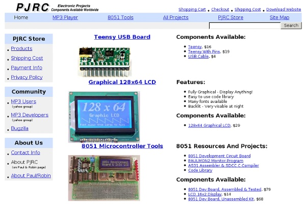 PJRC: Electronic Projects with Components Available Worldwide