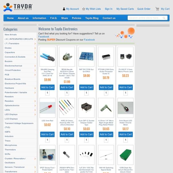 Electronic Parts Online Store - Tayda Electronics